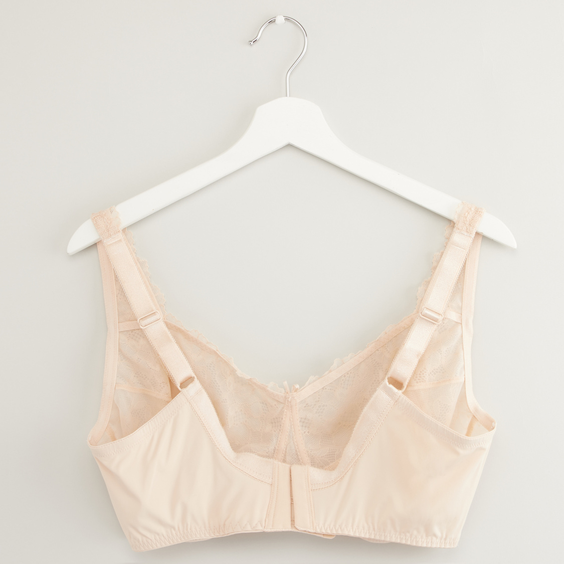 Lace Bra with Hook and Eye Closure