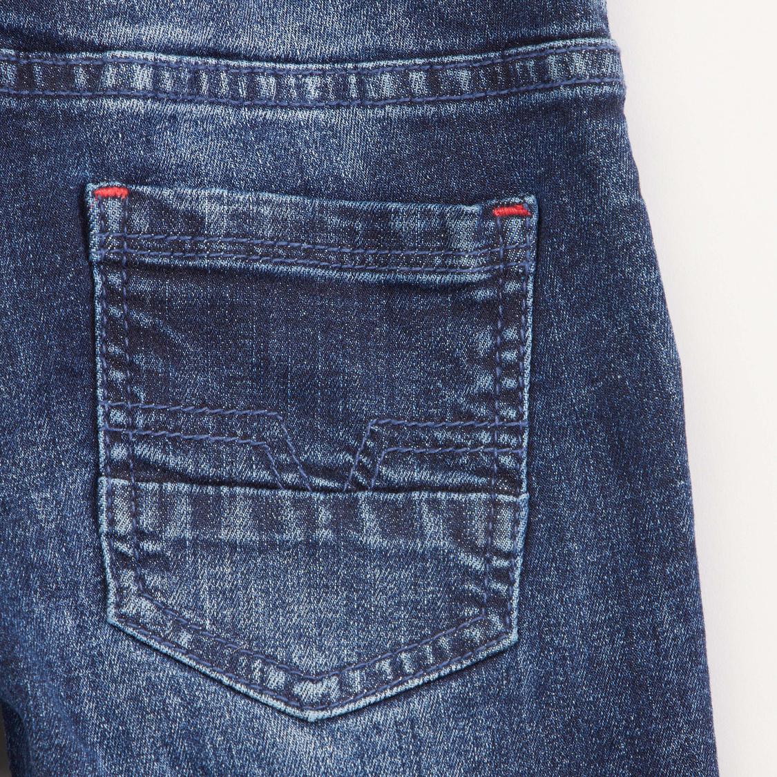 Pocket Detail Jeggings with Drawstring