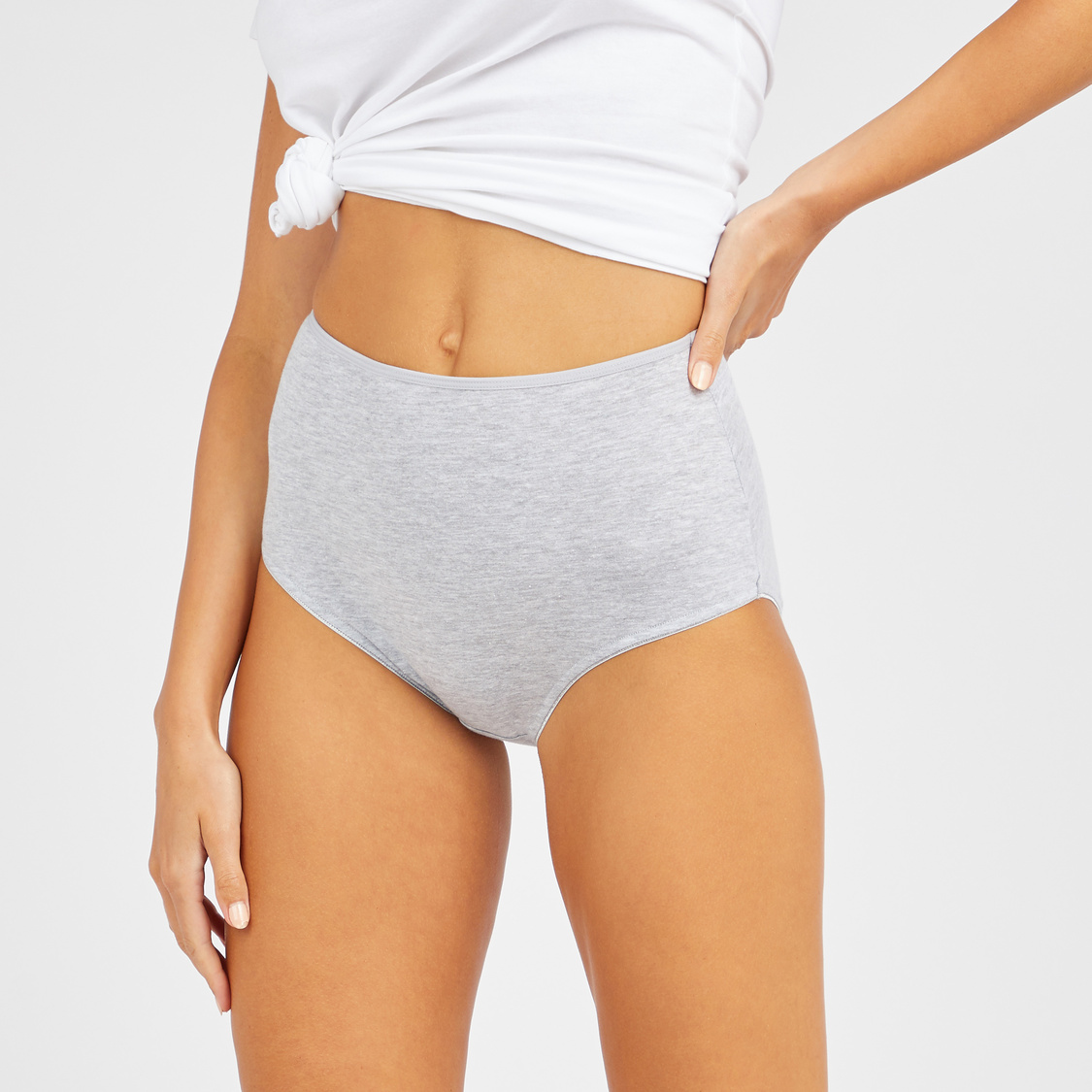 Set of 5 - Solid Full Briefs with Elasticised Waistband