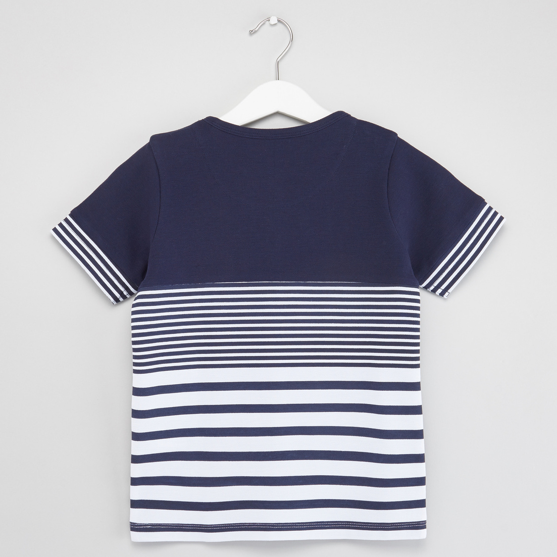 Striped Short Sleeves T-shirt with Solid Shorts