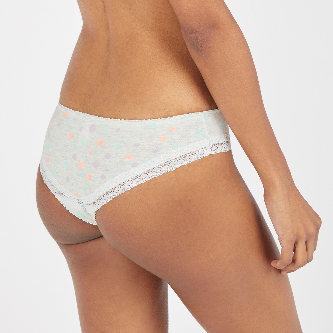 Printed Brazilian Briefs with Elasticised Waistband