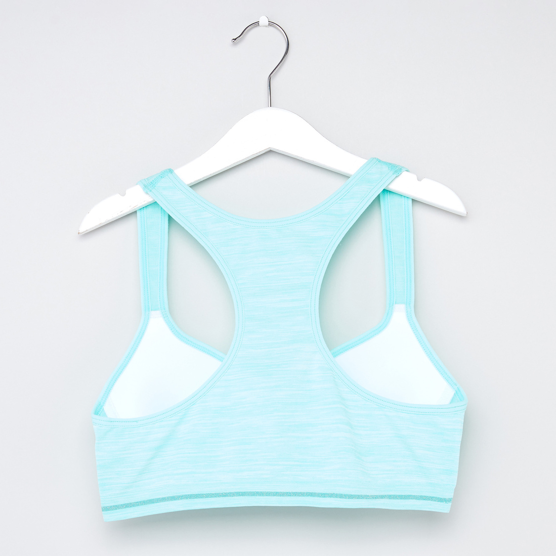 Solid Racerback Padded T-shirt Bra