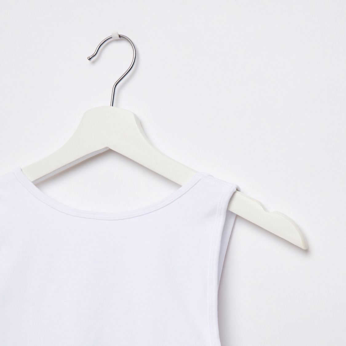 Solid Vest with Padded Bra Insert