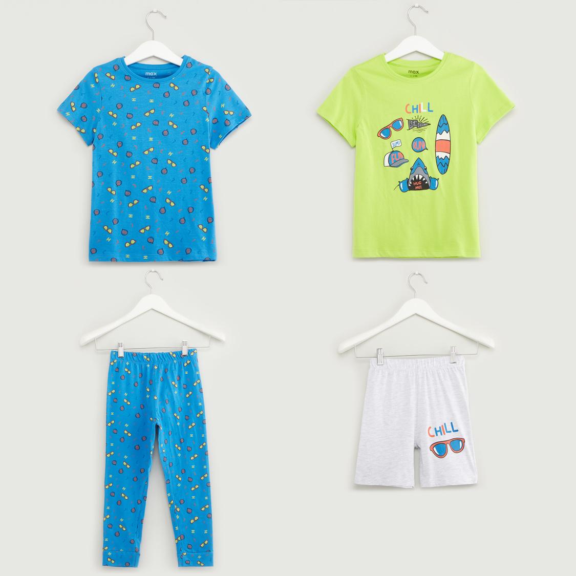 Printed 4-Piece Clothing Set