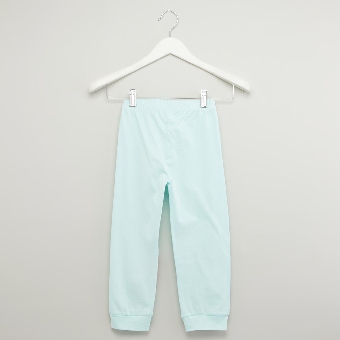 طقم ملابس نوم بطبعات - 4 قطع
