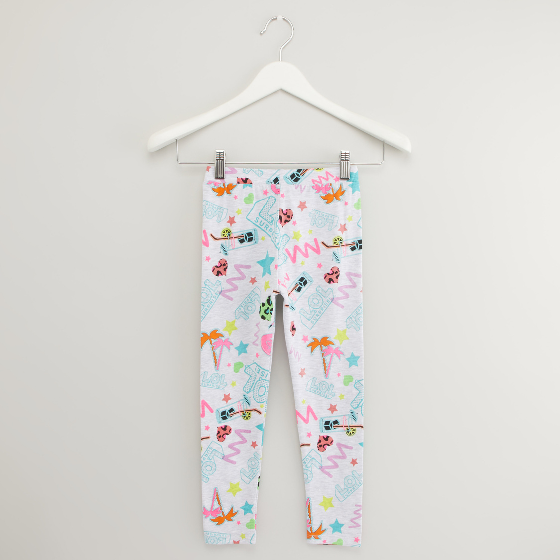All Over Printed Leggings with Elasticised Waistband