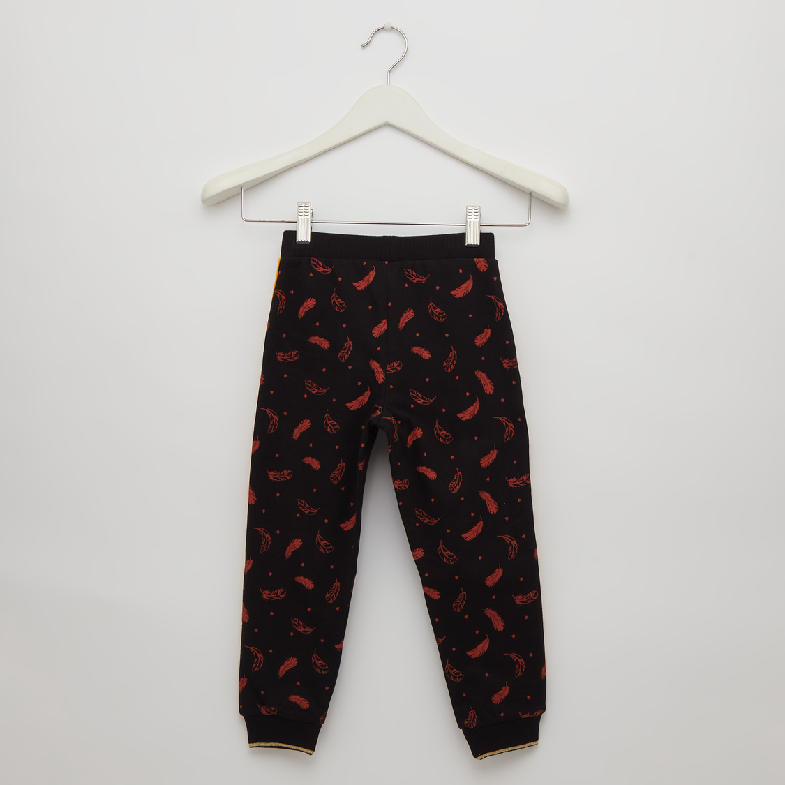 Printed Joggers with Drawstring Closure and Cuffed Ankles