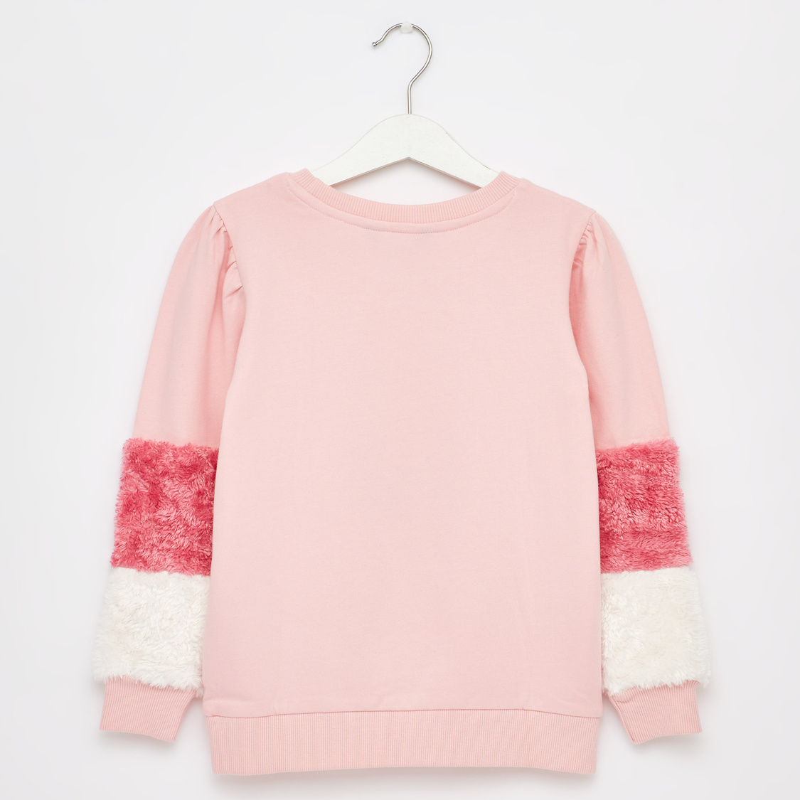 Sweat Top with Round Neck and Long Sleeves