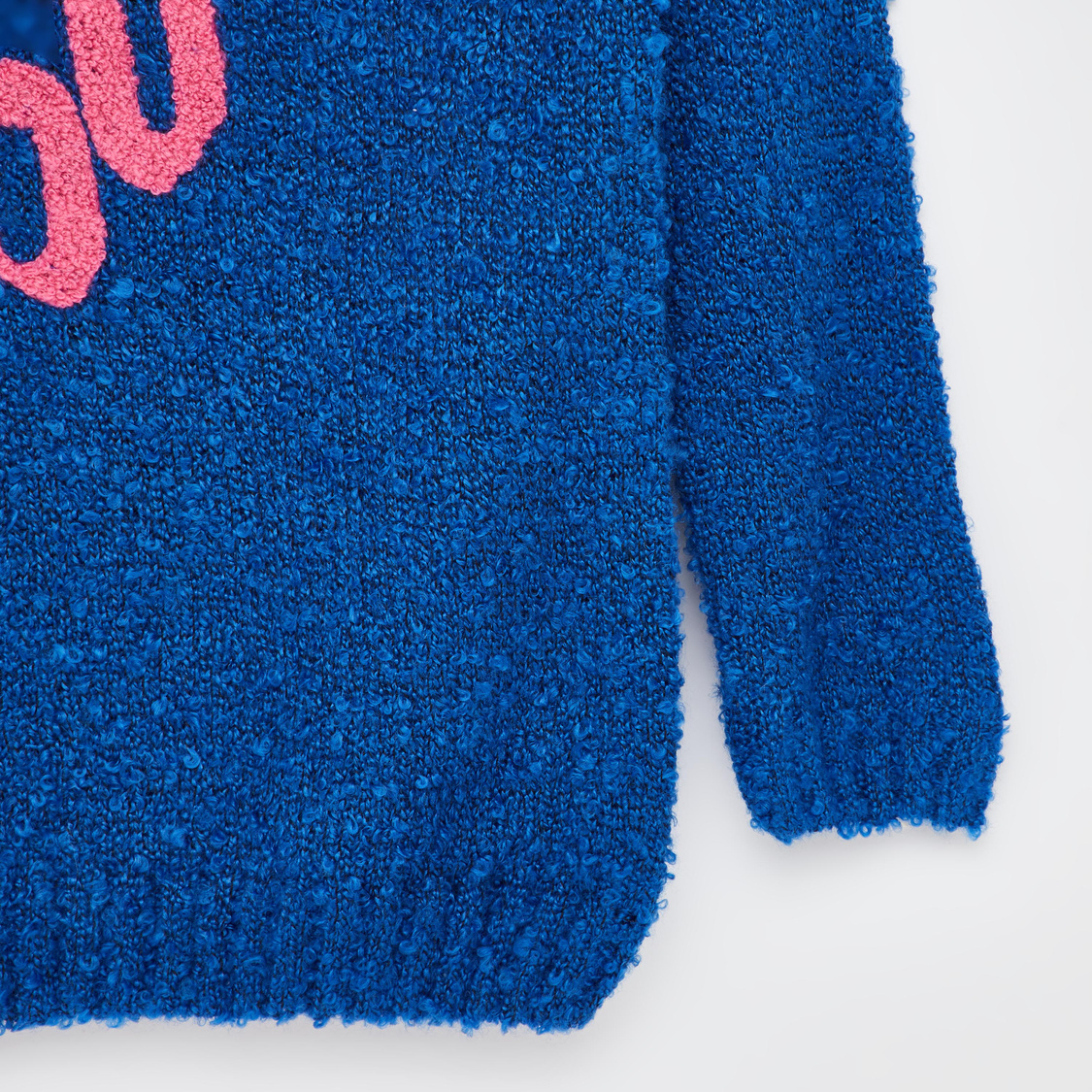Plush Round Neck Sweater with Long Sleeves