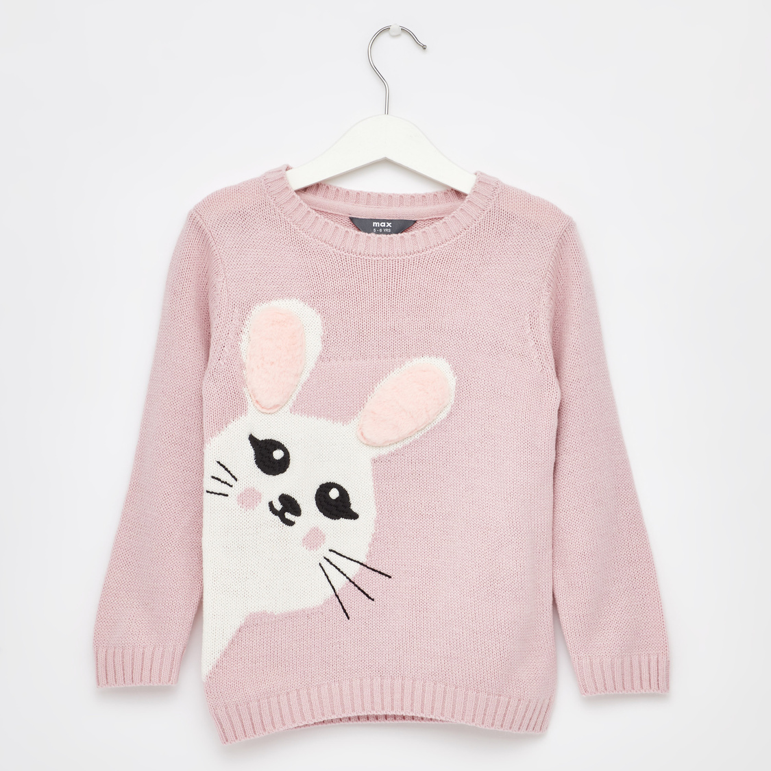 Knitted Round Neck Sweater with Long Sleeves