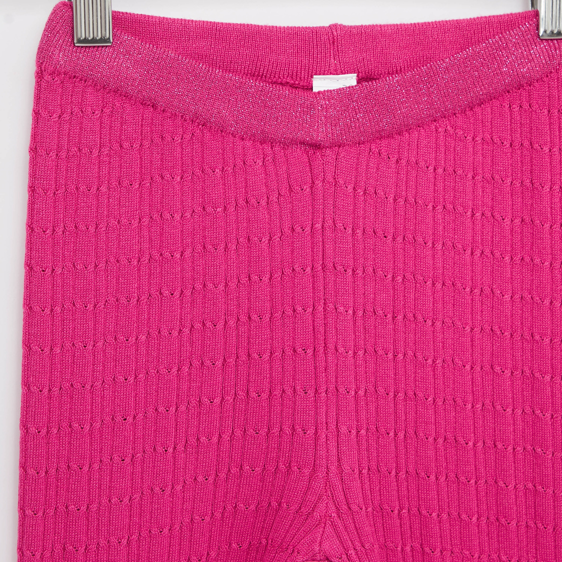 Full Length Cable Knit Leggings with Elasticated Waistband