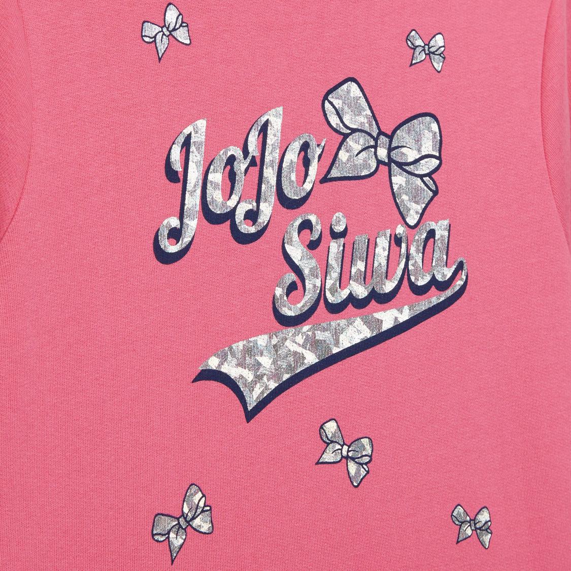JoJo Siwa Printed Midi Dress with Long Sleeves