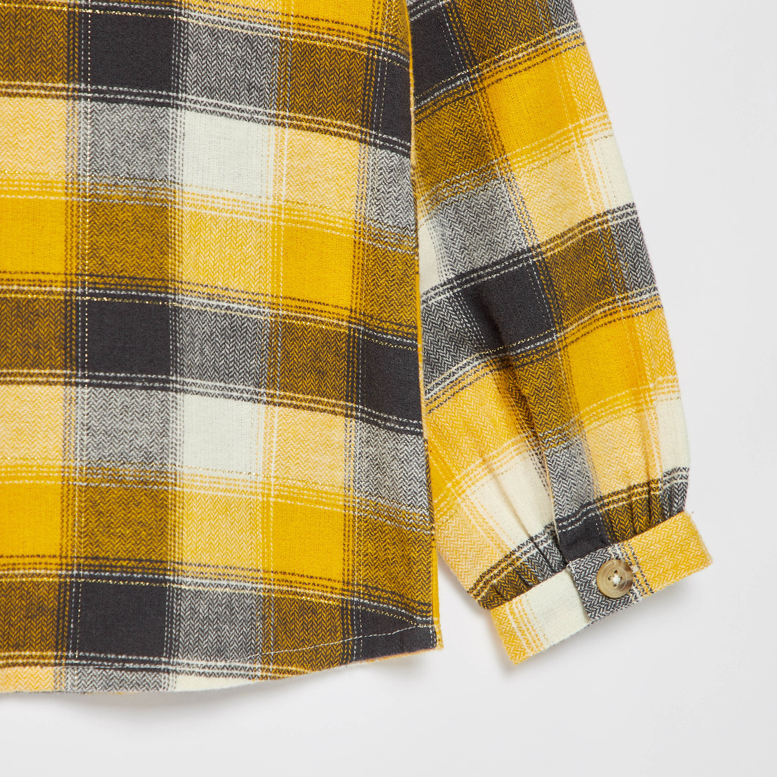 Checked Shirt with Long Sleeves and Frill Detail
