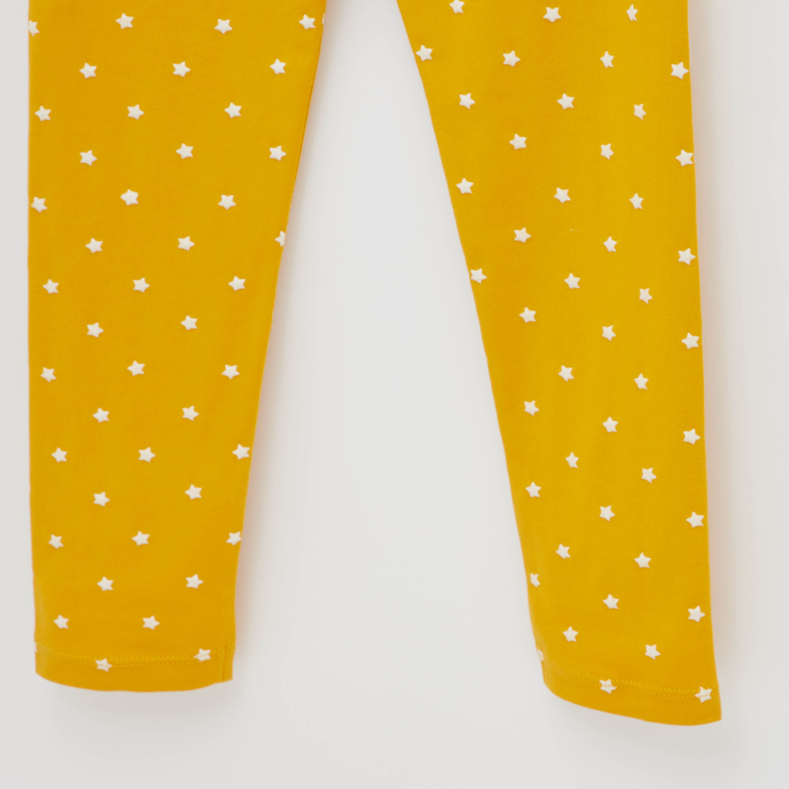 Graphic Print Leggings with Elasticised Waistband