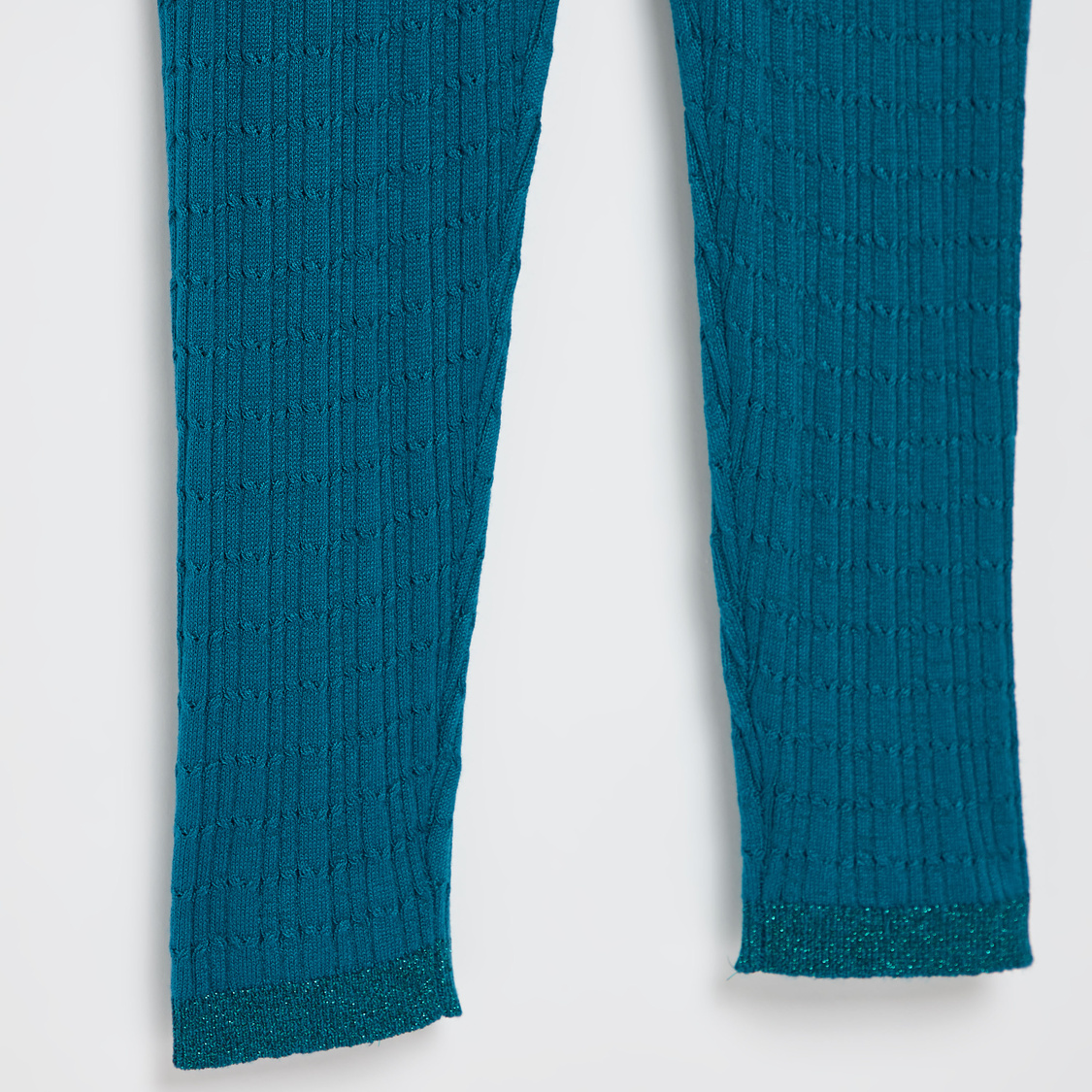 Full Length Knit Leggings with Elasticated Waistband