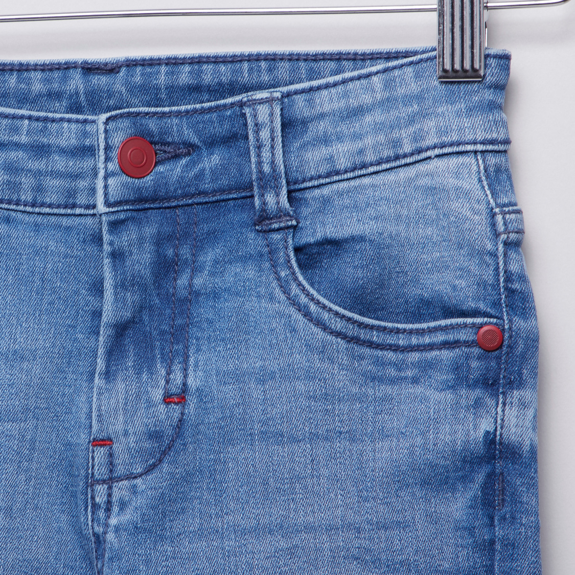 Textured Jeans with Pockets