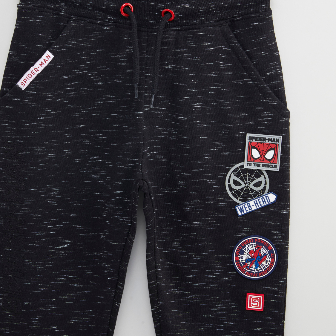 Spiderman Applique Detail Jog Pants with Pocket Detail and Drawstring