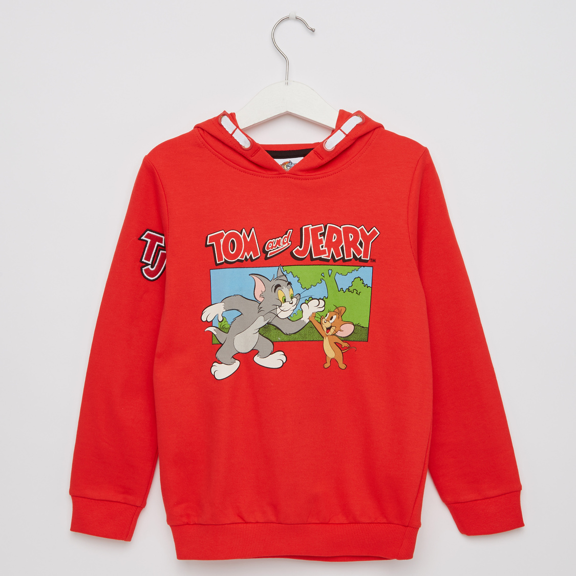 Tom and Jerry Print Hoodie and Long Sleeves