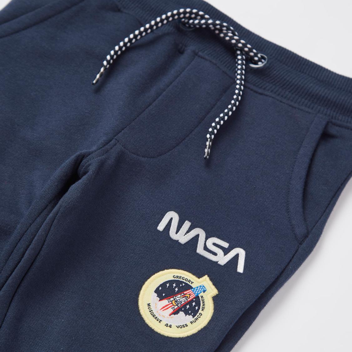 NASA Print Round Neck Sweatshirt and Full Length Jog Pants Set