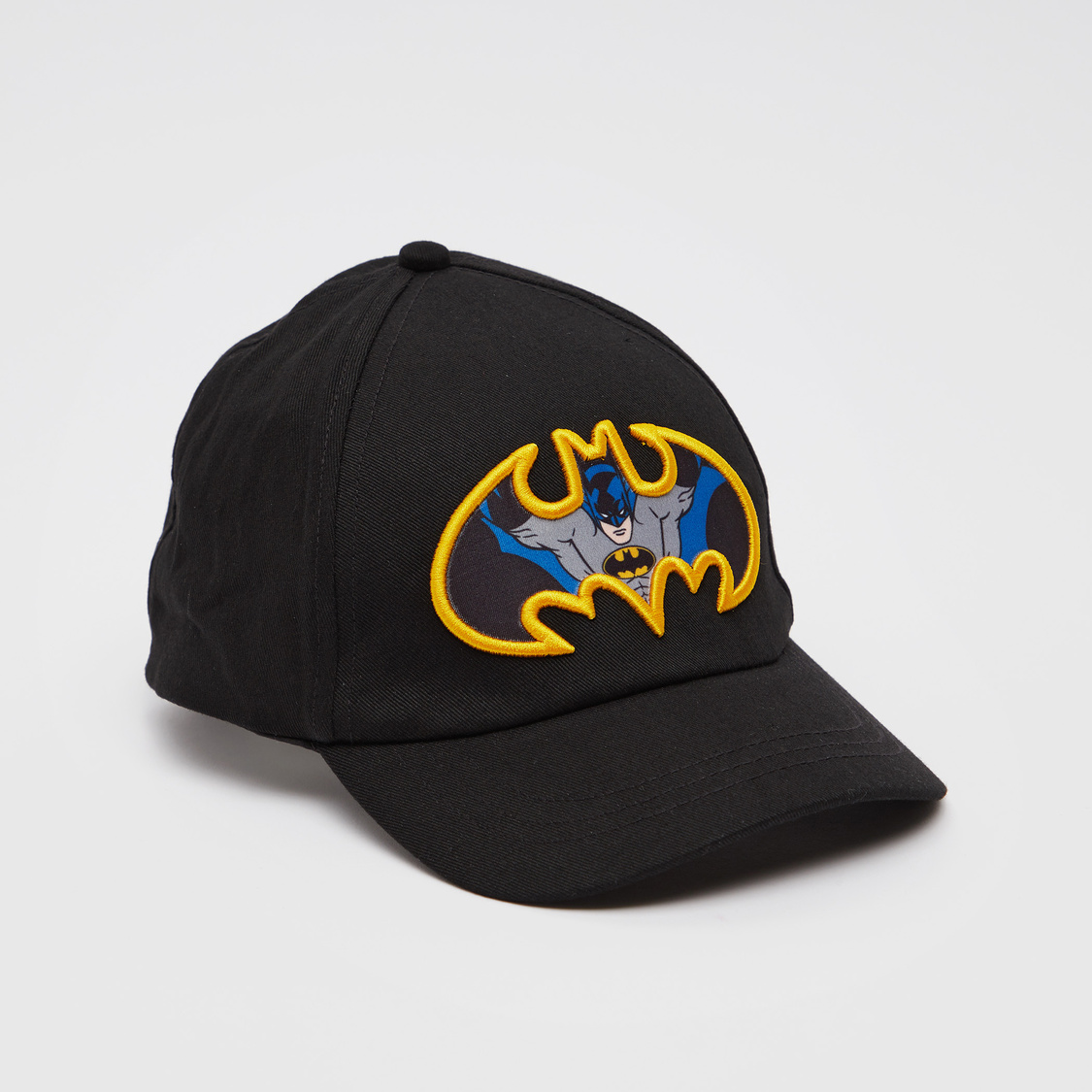 Batman Applique Detail Cap with Hook and Loop Closure