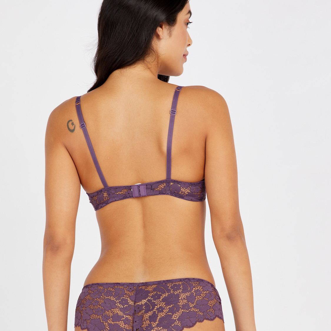 Set of 2 - Lace Detail Padded Wired Demi Bra