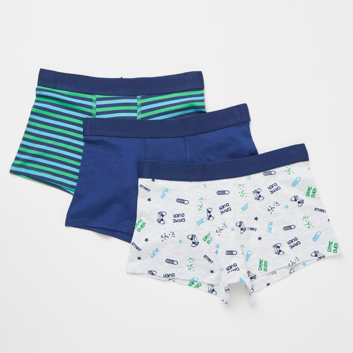 Set of 3 - Printed Briefs with Elasticated Waistband