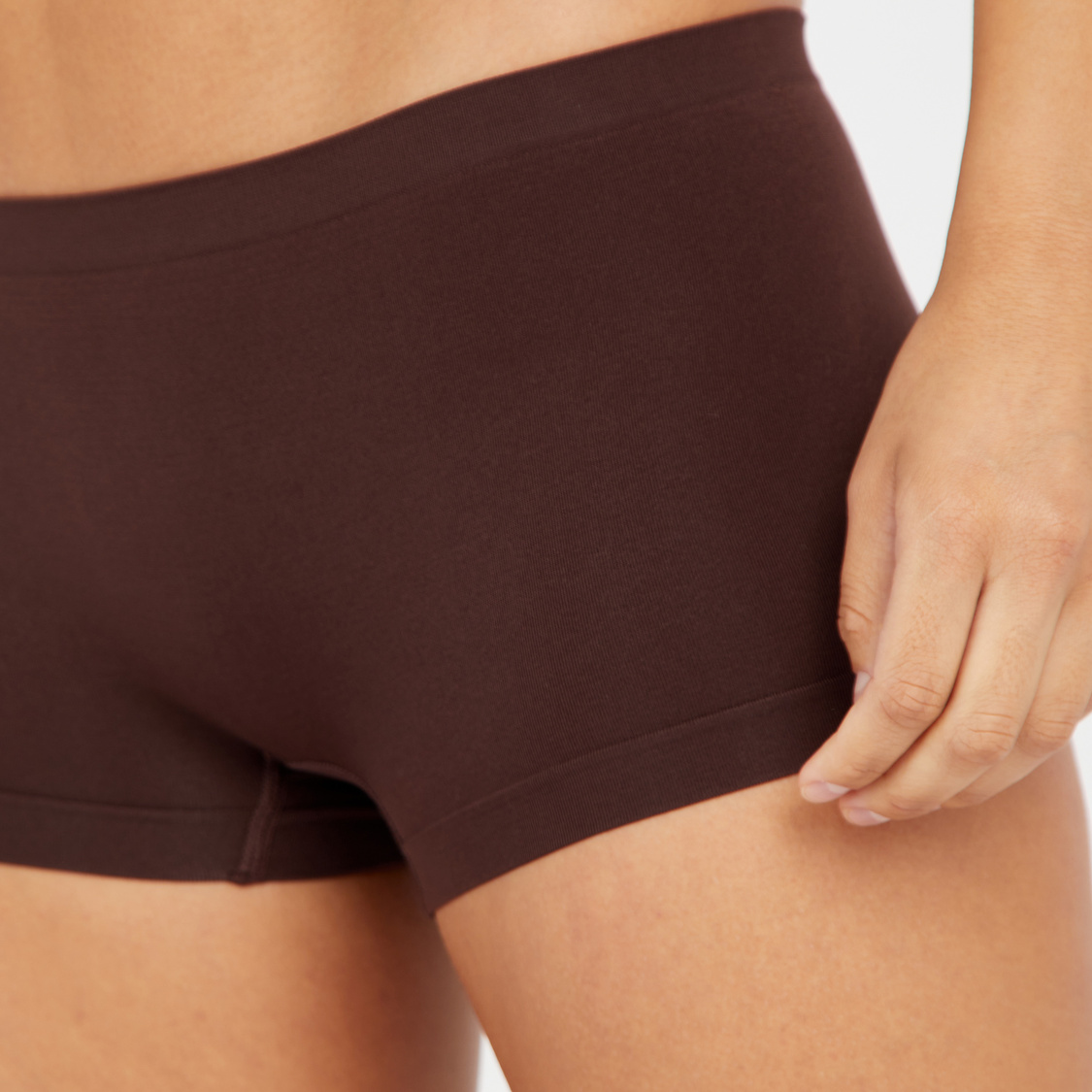 Set of 2 - Textured Shaping Briefs with Elasticated Waistband