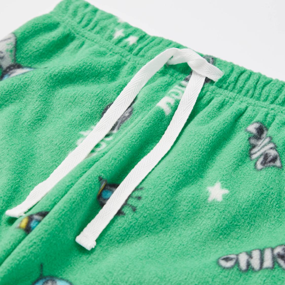 Cozy Collection Dino Print T-shirt and Full Length Pyjama Set