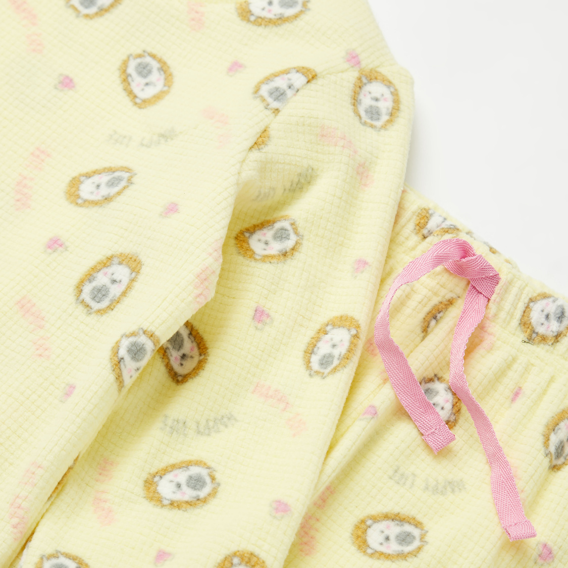 Cozy Collection Printed Long Sleeves Top and Full Length Pyjama Set