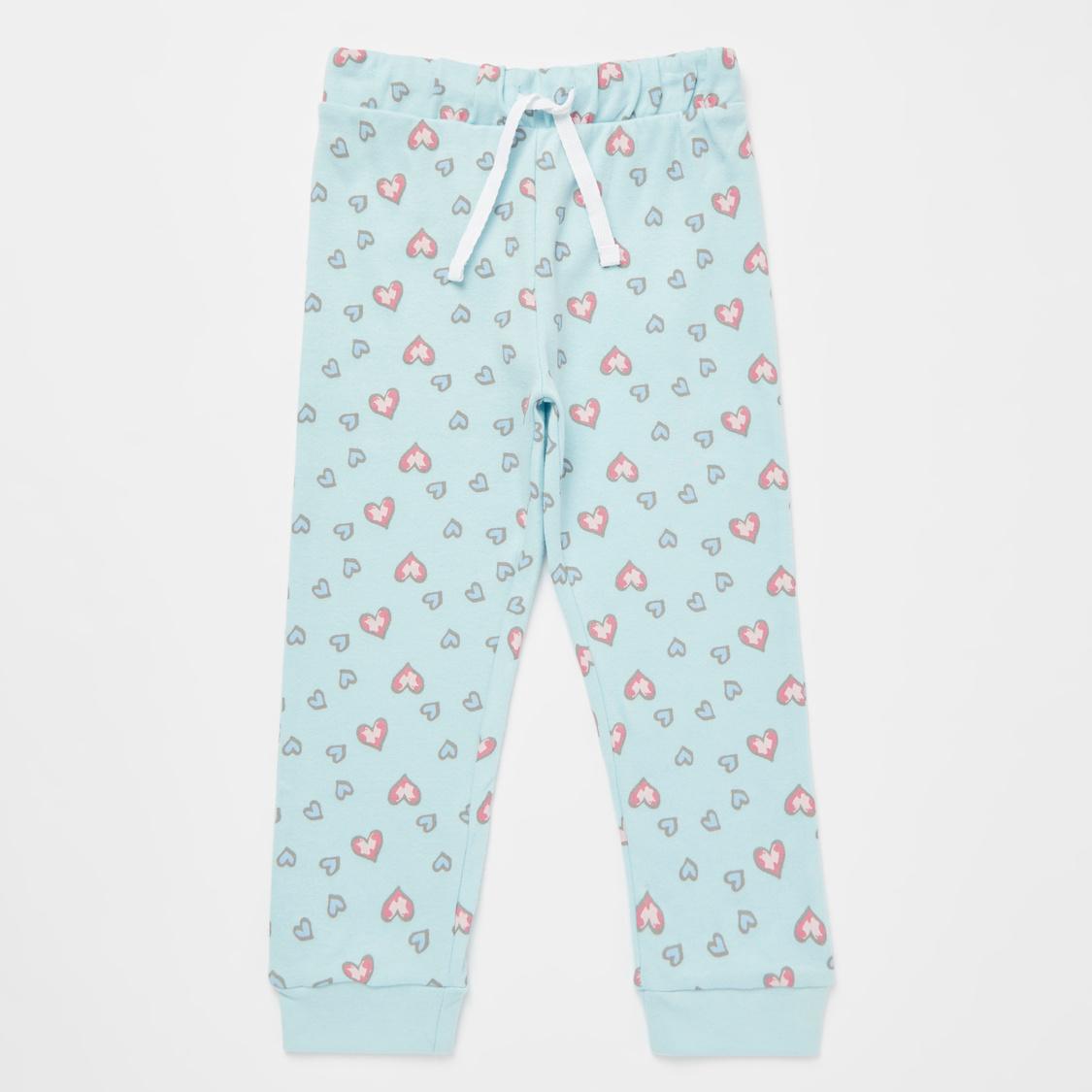 Cozy Collection Little Ballerina Print T-Shirt and Pyjama Set
