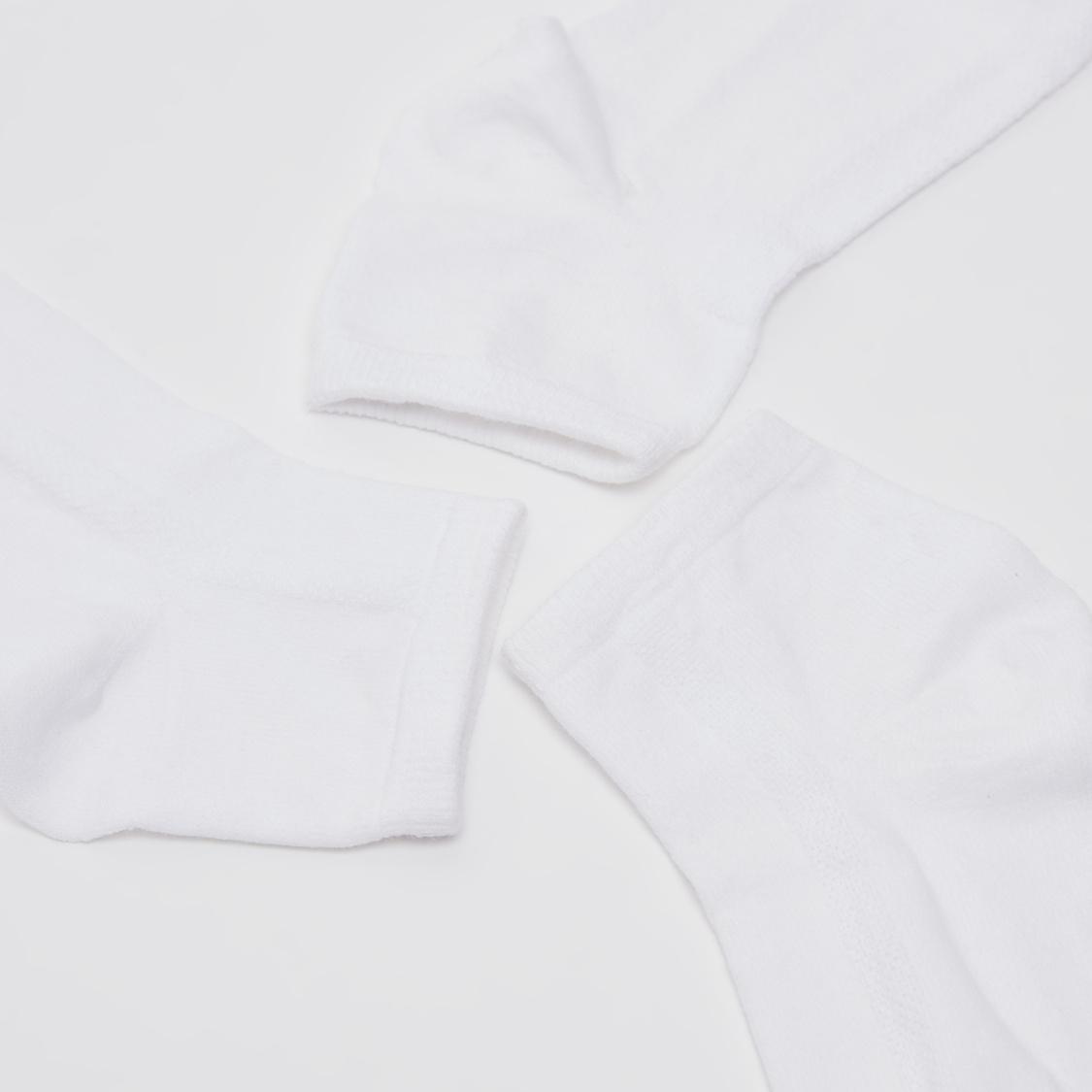 Set of 3 - Textured Ankle Length Socks