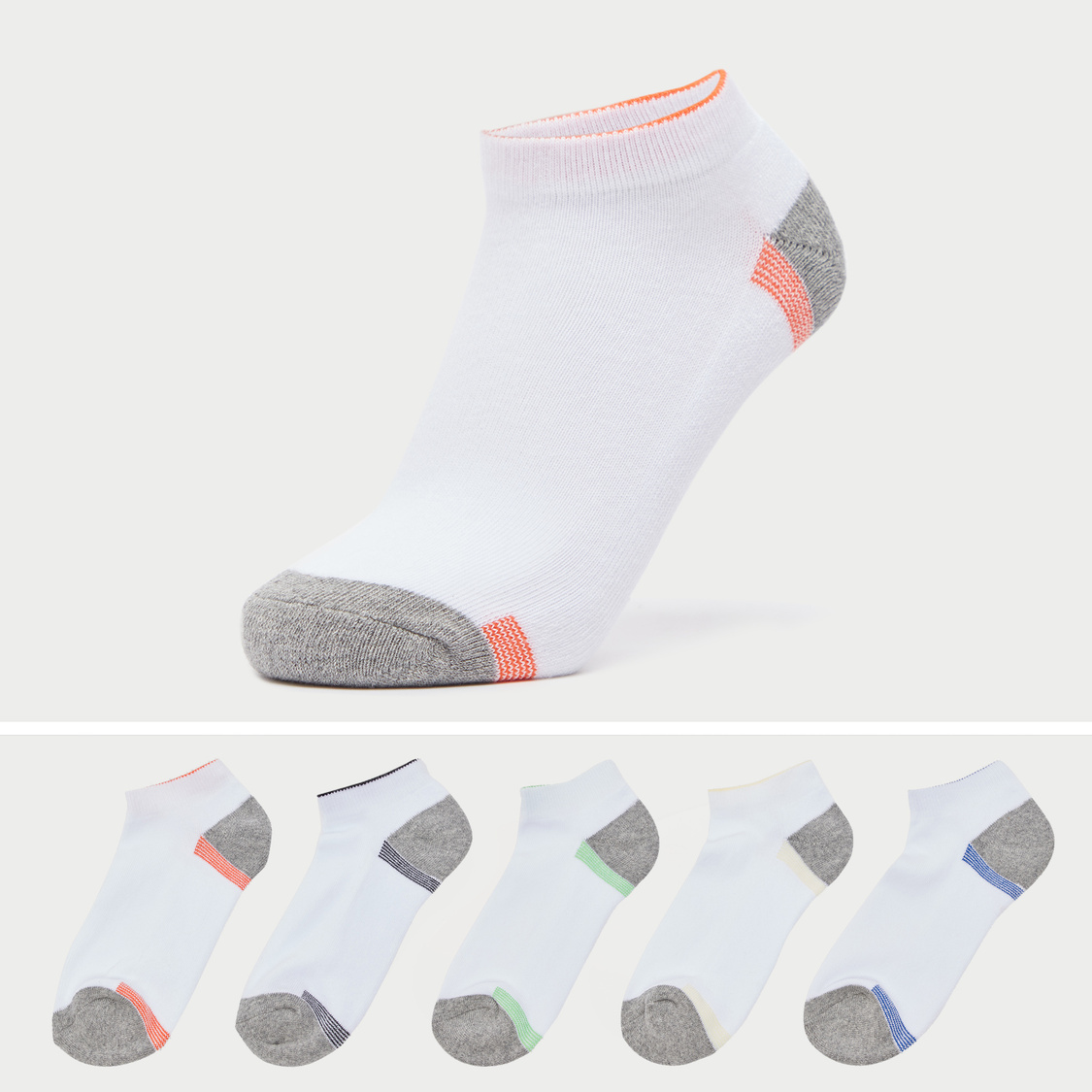 Pack of 5 - Solid Ankle Length Socks