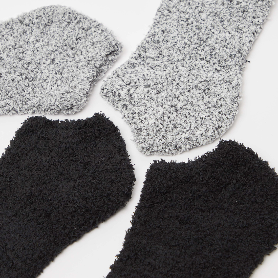 Set of 2 - Textured Ankle Length Socks