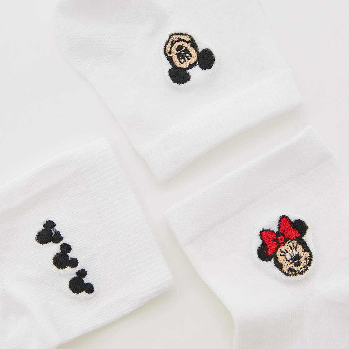 Pack of 3 - Minnie Mouse Print Ankle Length Socks