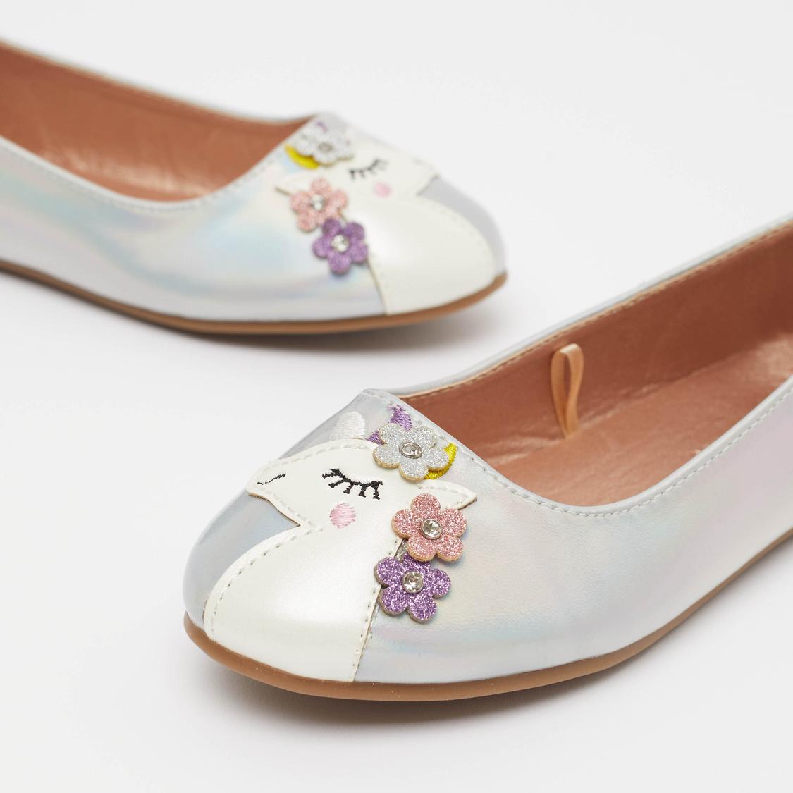 Embellished Slip-On Ballerina Shoes