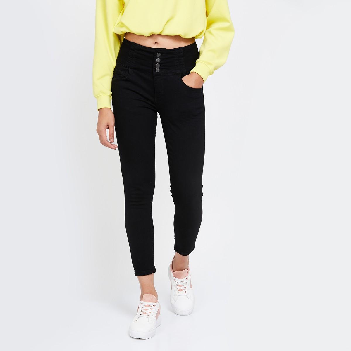 Black Women High waist jeans