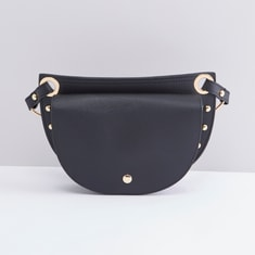 Studded Satchel Bag with Adjustable Strap