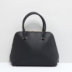 Handbag with Zip Closure and Detachable Strap