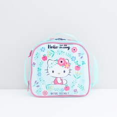 Hello Kitty Printed Lunch Bag with Zip Closure and Adjustable Strap