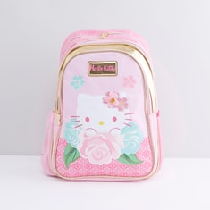 Hello Kitty Printed Backpack with Adjustable Shoulder Straps