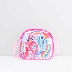 My Little Pony Printed Lunch Bag with Zip Closure and Adjustable Strap