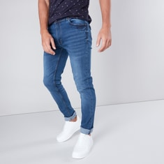 Slim Fit Mid-Rise Jeans with Pocket Detail
