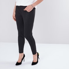 Animal Jacquard Jeggings in Regular Fit