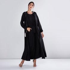 Embellished Abaya in Straight Cut