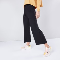 Solid Culottes with Drawstring Waistband