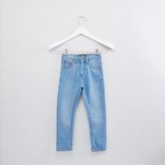 بنطال جينز بطول كامل بأزرار للإغلاق