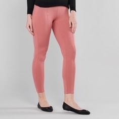 Plain Leggings with Elasticised Waistband