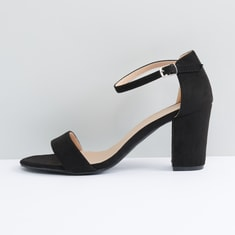 Ankle Strap Sandals with Block Heels