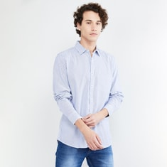 MAX Striped Slim Fit Full Sleeves Casual Shirt