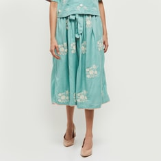 MAX Embroidered Elasticated A-Line Skirt